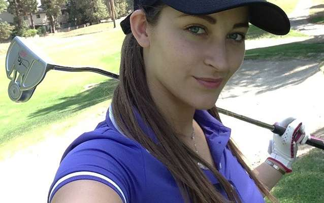 Dani Daniels with a golf club