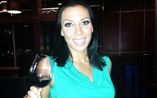 Rachel Starr drinking wine