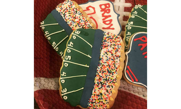 Tasha Reign and Tom Brady/ New England Patriots cookies