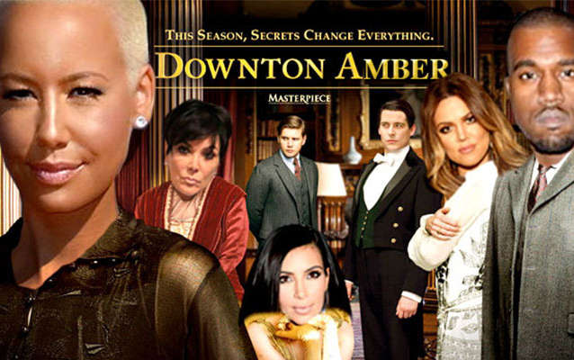 Amber Rose Downtown Abbey